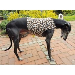 """Windhund-Polarfleece-Weste """"Leopard"""", 5 Größen"""