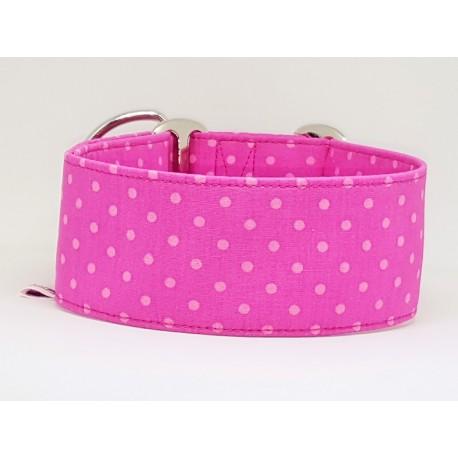 Zugstopphalsband Windhundhalsband pink dots