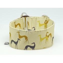 """Zugstopphalsband Windhundhalsband """"Galgo Gold"""", Einzelstück,  Breite 5 cm, Weite 36 cm mit 6 cm Zug"""