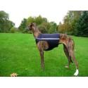 Windhund Warn-, Renn und Tobeweste in schwarz, mit Reflektorstreifen, 5 Größen lieferbar