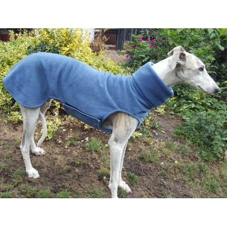 Windhundpullover Polarfleece blau