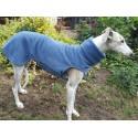 Sofort lieferbar -  Windhund Pullover Polarfleece jeansblau, mit Klettverschluss, Gr. XL