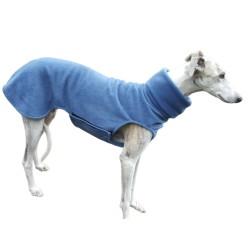 Windhund Pullover Polarfleece jeansblau, mit Klettverschluss, 5 verschiedene Größen