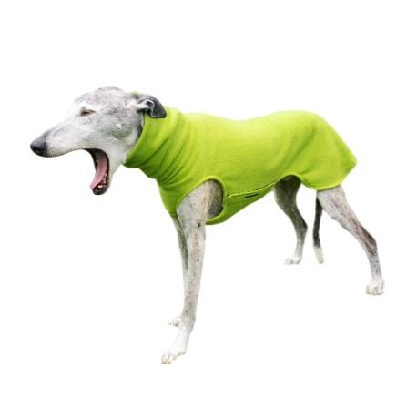 Windhundpullover Polarfleece grün