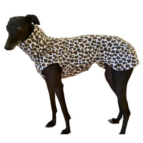 Windhund Pullover Leoparden Print