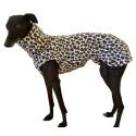 Windhund Pullover Polarfleece Leoparden-Look, ein Klettverschluss, 5 Größen