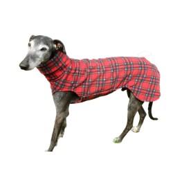 Windhund Pullover Polarfleece Royal Stewart Check, ein Klettverschluss, 5 Größen