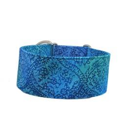 Zugstopp Halsband Windhundhalsband Goa Blue, 3 Breiten lieferbar