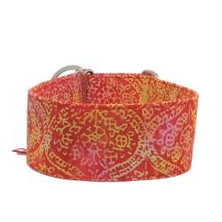 Zugstopp Halsband Windhundhalsband Goa Red, 3 Breiten lieferbar