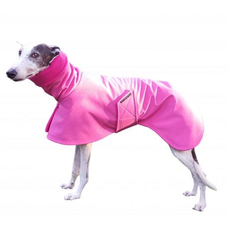 Windhundmantel Softshell pink