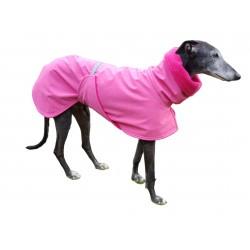 Windhund Softshellmantel pink-meliert mit Polarfleece gefüttert, Brustlatz, warm, 4 Größen
