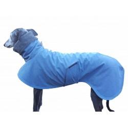 Windhundmantel Softshell jeansblau-meliert, gefüttert mit Baumwollfleece , 4 Größen