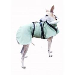 Windhund Softshellmantel lindgrün-meliert mit BW-Teddy-Plüsch gefüttert, Brustlatz,  warm, 4 Größen