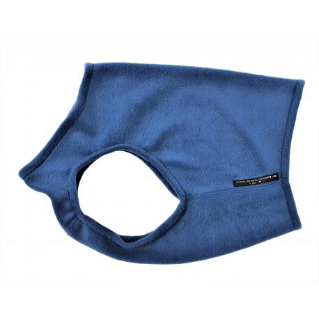 Windhund Weste Polarfleece jeansblau, 5 Größen
