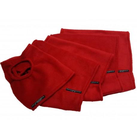 Windhund-Polarfleece-Weste, Farbe Rot, 5 Größen