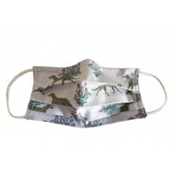 Behelfsmaske, Gesichtsmaske Deerhound, Gr. L (Erwachsene)