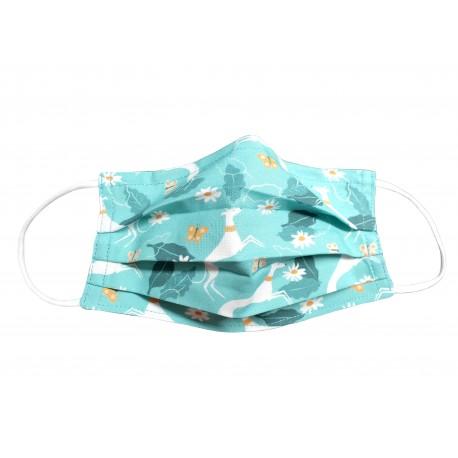 Behelfsmaske, Gesichtsmaske Galgo in Spring, Gr. L (Erwachsene)