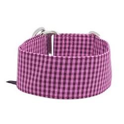 """Zugstopphalsband """"Vichy Karo in Pink"""", 3 Breiten lieferbar"""