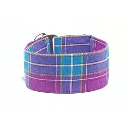 Zugstopphalsband Scottish Style purple