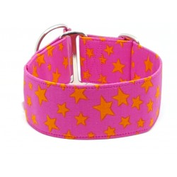 Orange Stars on Pink