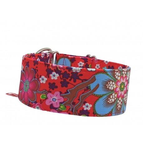 Zugstopp Halsband Windhundhalsband Hanami Red, 3 Breiten lieferbar