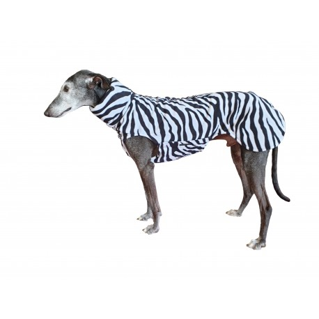 Windhund Pullover Polarfleece Zebra, ein Klettverschluss, RL 73 cm