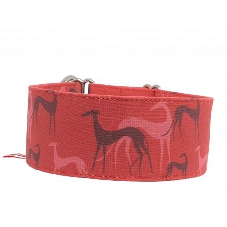 Zugstopphalsband Galgo red