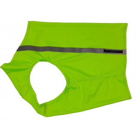 Windhund Warn-, Renn und Tobeweste in phosphor-grün, mit Reflektorstreifen, 5 Größen lieferbar