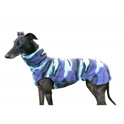 Sofort lieferbar - Windhund Pullover Polarfleece Camouflage, ein Klettverschluss, Gr. XL