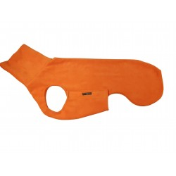 Windhund Pullover Polarfleece orange, mit Klettverschluss, 5 Größen