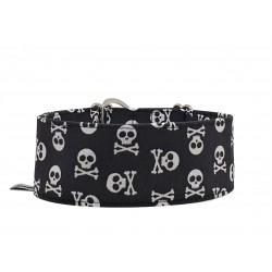Zugstopp Halsband Windhundhalsband Little Skulls, 3 Breiten lieferbar