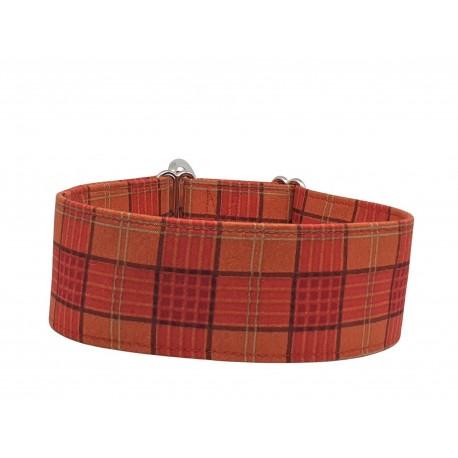 Zugstopp Halsband Windhundhalsband Karo rot, 3 Breiten lieferbar