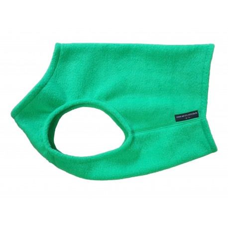 Windhund Weste Polarfleece grasgrün, 5 Größen