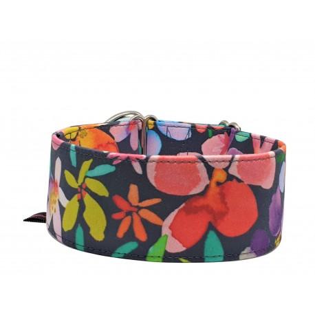 Zugstopp Halsband Windhundhalsband Pastell Flowers, 2 Breiten lieferbar