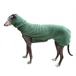 Windhund Pullover Polarfleece dunkelgrün, mit Klettverschluss, 5 Größen