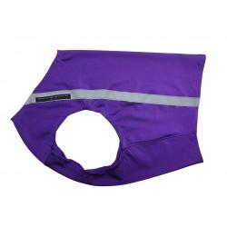 Windhund Warn-, Renn- und Tobeweste in lila mit Reflektorstreifen, 5 Größen lieferbar