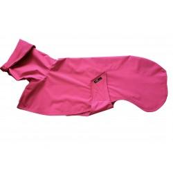 Windhund-Regenmantel Farbton Beere, gefüttert mit BW-Jersey gestreift,  5 Größen