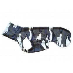 Windhund Pullover Polarfleece Camouflage lila-grau, ein Klettverschluss, 5 Größen
