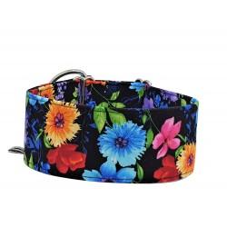 Zugstopp Halsband, Windhundhalsband Nachtblüte, 3 verschiedene Breiten