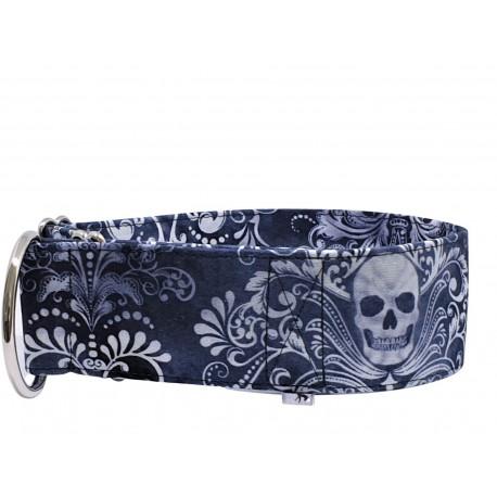 Zugstopp Halsband Windhundhalsband Skulls & Ornaments , 5 cm Breite
