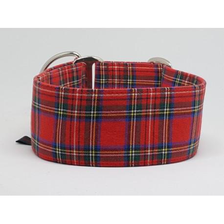 "Zugstopphalsband ""Scottish Style Red II"""