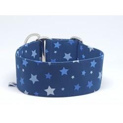 """Zugstopphalsband """"Stars in Blue"""", 3 Breiten lieferbar"""