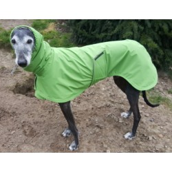 Regenmantel grün,Funktionsstoff, gefüttert mt BW-Fleece taupe, Kapuze, RL  75 cm, Brustumfang ca. 70-74 cm, sofort lieferbar