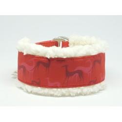 Windhundhalsband gepolstert, Galgo red